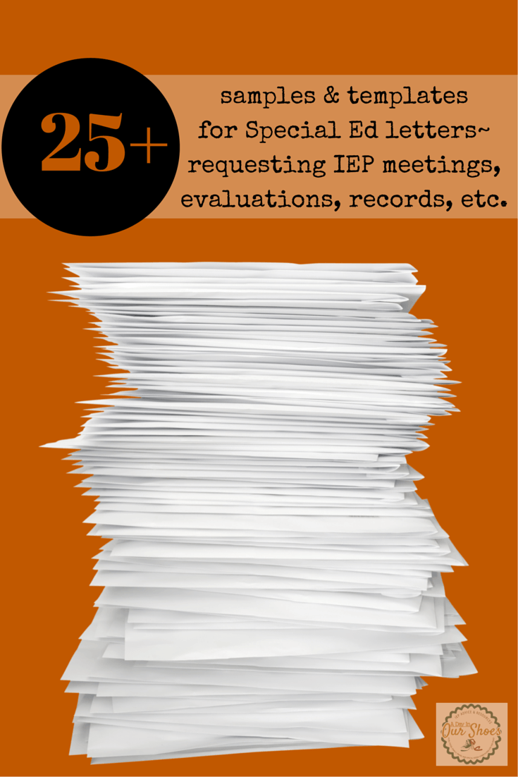 How to Request IEP Evaluations + 25 other IEP letter ...