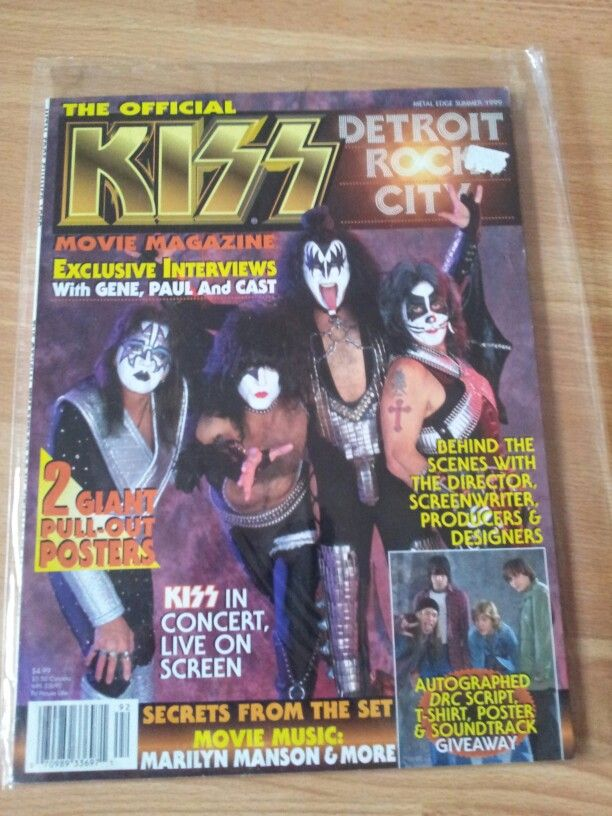 Kiss Magazine Detroit Rock City Movie Magazine 1999 Detroit Rock City Movie Magazine Screenwriting