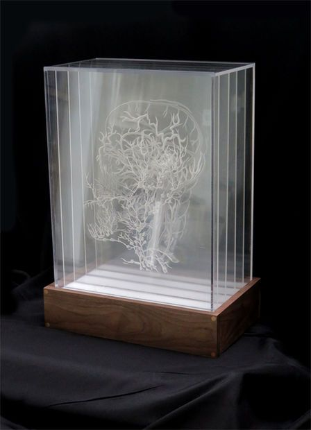 Pier 9 Air Inside The Box How To Etch And Display Multiple Drawings On Transparent Acrylic Acrylic Sculpture Laser Art Glass Art