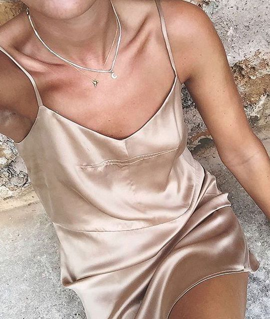 01be865ff4538 So in love with this silky nude colored slip! Perfect for a hot day ...