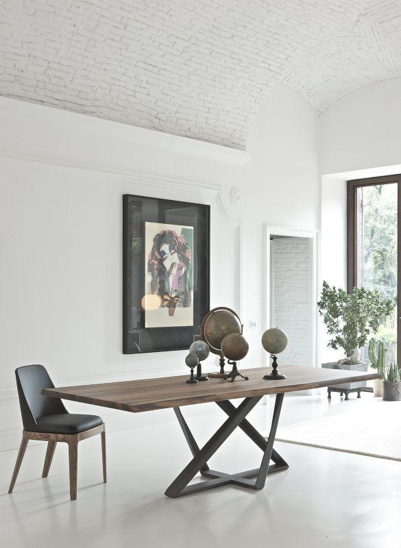 Tavolo Millennium 20.39 L. 250 x P.106 tavoli moderni fissi - tavoli ...
