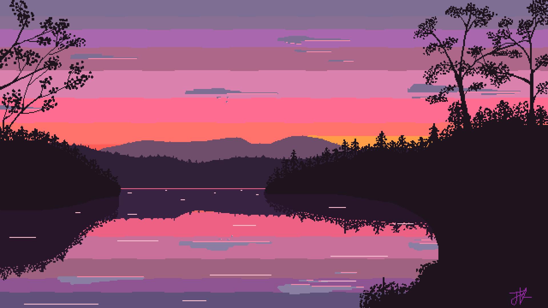 Cool Desktop Wallpaper Download Free Full Hd Wallpapers Backgrounds In 2020 Pixel Art Landscape Pixel Art Background Desktop Wallpaper Art