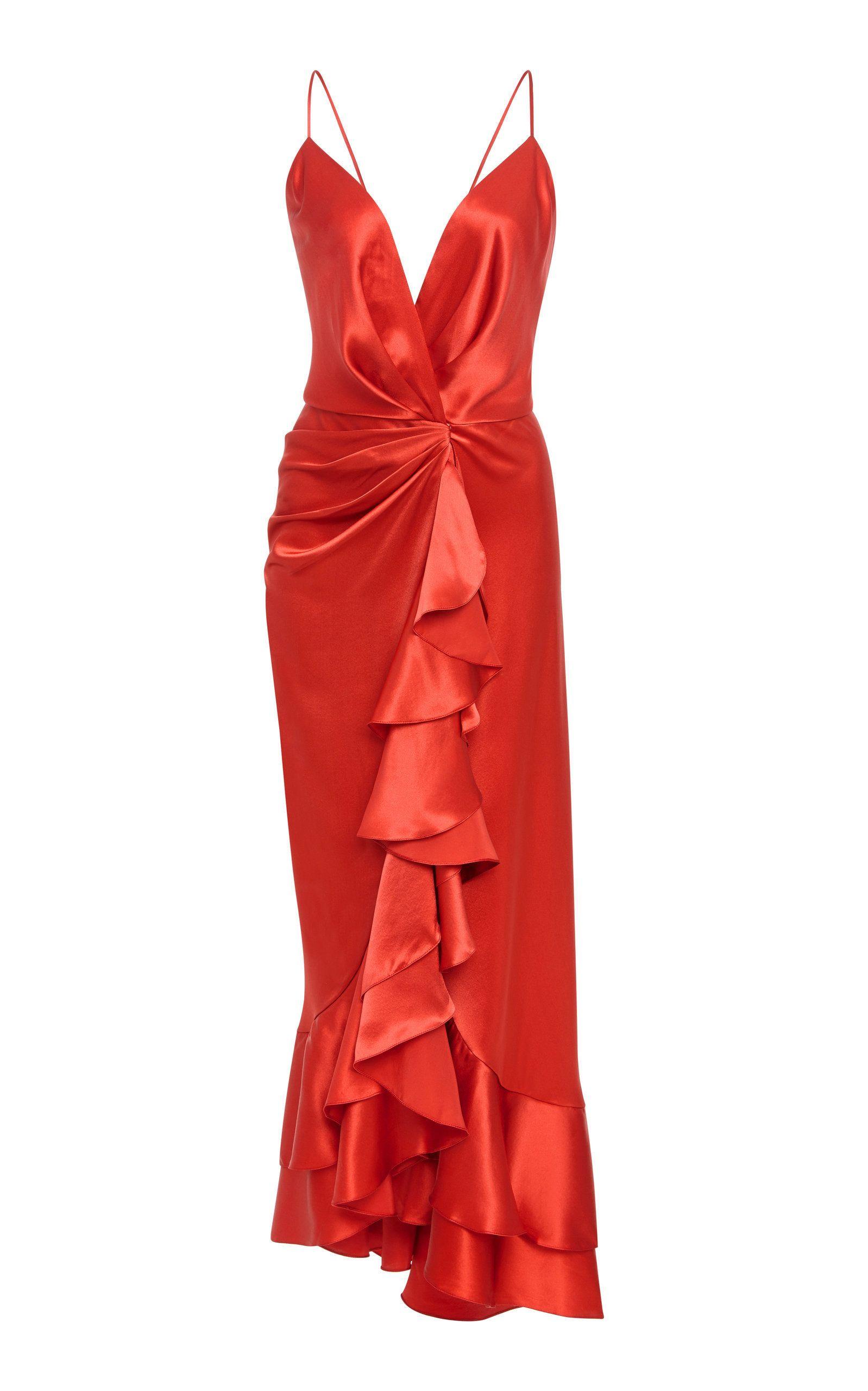 Dresses to wear to a destination wedding as a guest  Johanna Ortiz Perfumero Draped SilkCharmeuse Dress in
