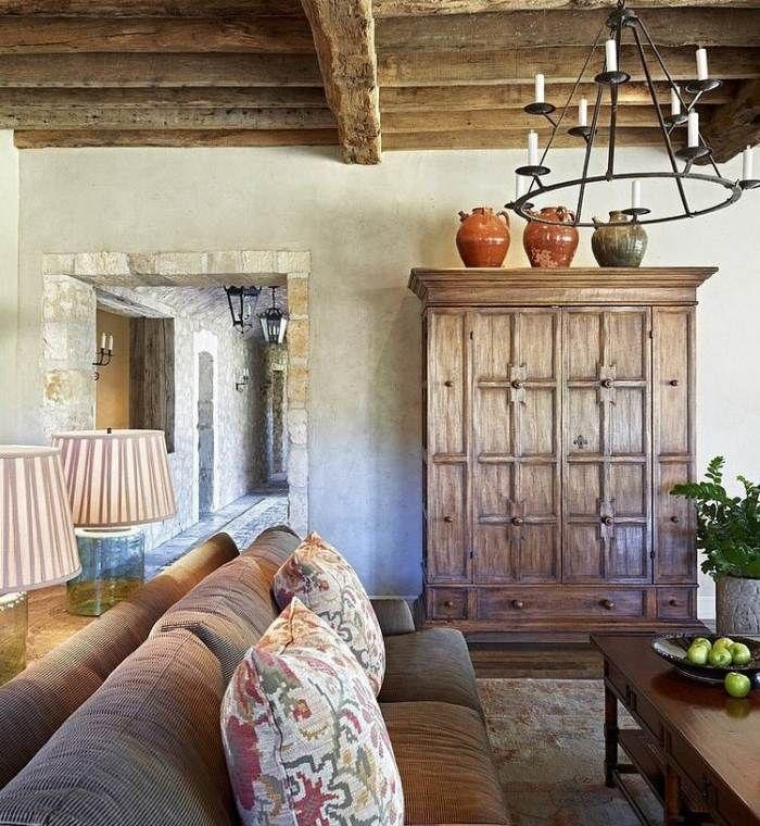 rustikale-Naturmaterialien-Holz-Stein-Lehm-Terracotta-Wände-Fußböden ...