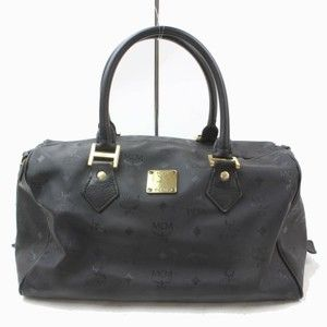 9f4e3913991883 MCM Mint Condition Chic European Style Munchen Canvas/Leather/Gold Satchel  in black MCM logo print … | https://www.tradesy.com/closet/vintage-junktion/  in ...