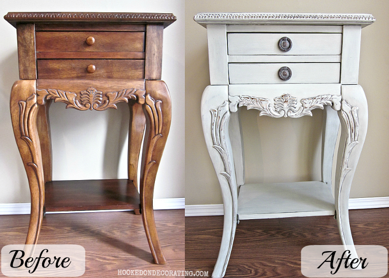 DIY chalk paint: hall table and hardware makeover | fashion ...