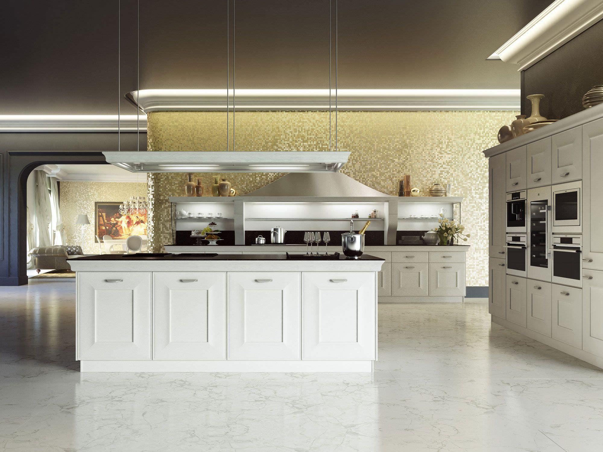 Klassische Küche klassische küche holz kochinsel lackiert gioconda by iosa