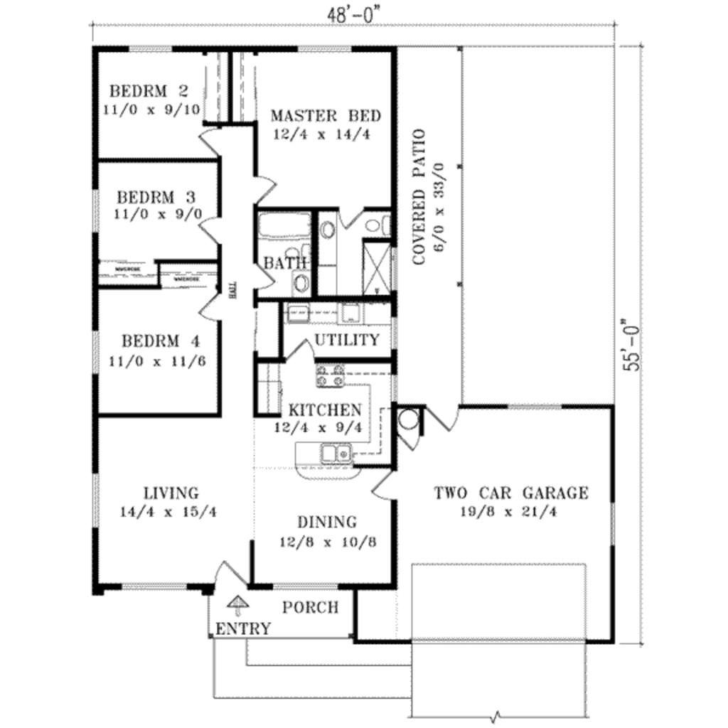 Adobe / Southwestern Style House Plan