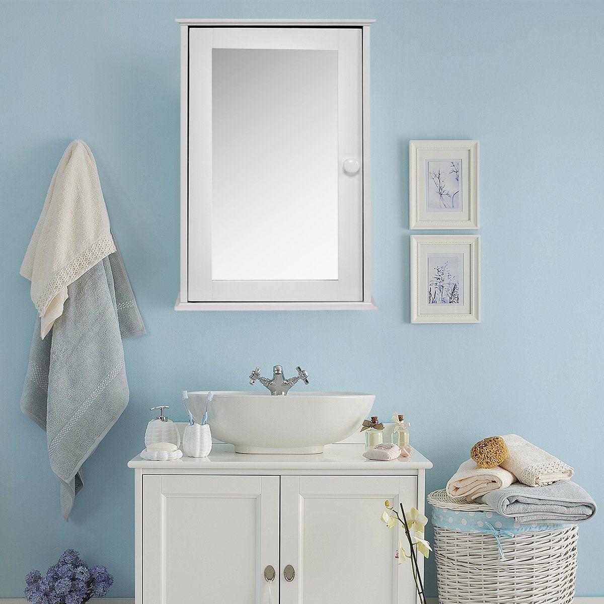 Costway Spiegelschrank Badschrank Hangeschrank Wandschrank Badezimmerschrank Badregal Badmobel 34x15x53cm Amazon De Kuche Haushalt In 2019 Bathroom Mirror Cabinet Bathroom Bathroom Cabinets