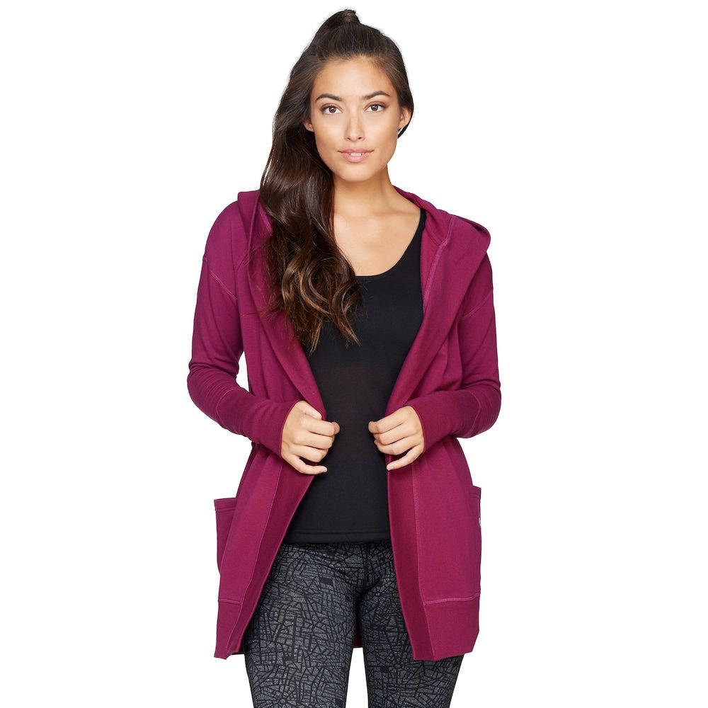 Women's Colosseum One-Way Hooded Cardigan, Size: XL, Dark Red ...