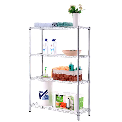 Style Selections 14 In D X 35 7 In W X 53 In H 4 Tier Steel