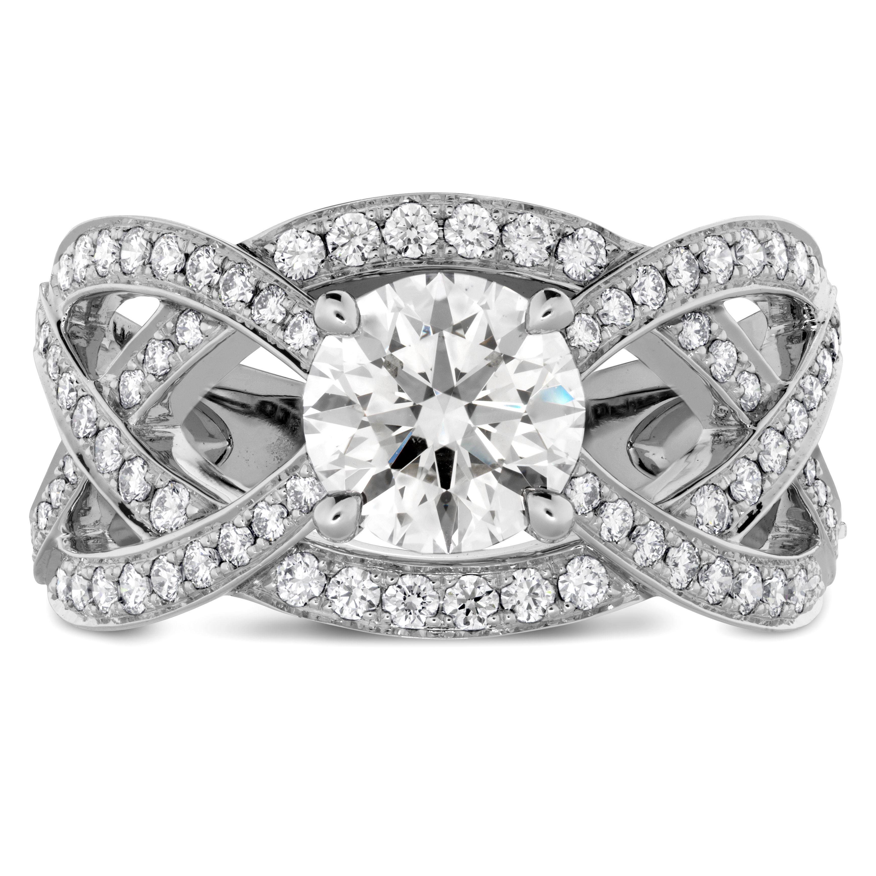 68aa4df7ea4fb Intertwining HOF Diamond Engagement Ring #HOF #Diamonds   For The ...