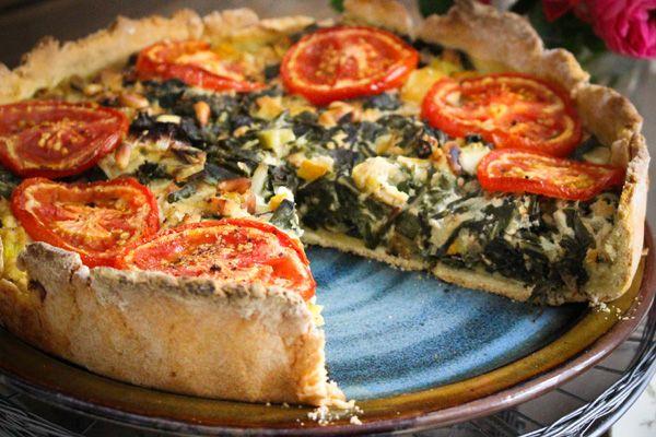 mangold zucchini quiche mit sonnentomaten rezept vegane rezepte pinterest. Black Bedroom Furniture Sets. Home Design Ideas