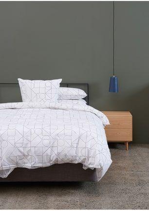 Citta Design - Muster Duvet Cover White/Concrete - Queen
