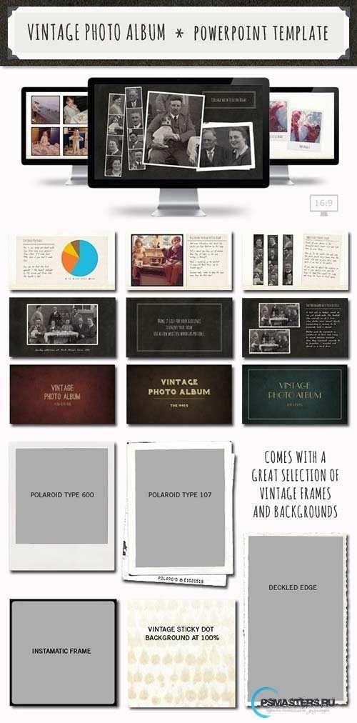 Graphicriver Vintage Photo Album Powerpoint Template Diseo