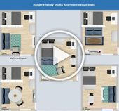Ideas for studio apartments layout of the studio apartments decoration of a st#d...#apartments #decoration #ideas #layout #std #studio