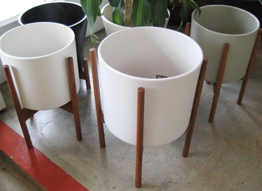 White Planter With Stand Home Ideas
