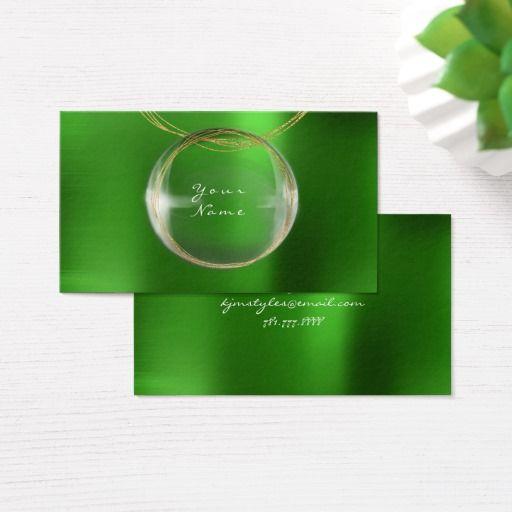 Jewely stylist gold glass ball emerald green metal business card shop jewely stylist gold glass ball emerald green metal business card created by luxuryluxury reheart Choice Image