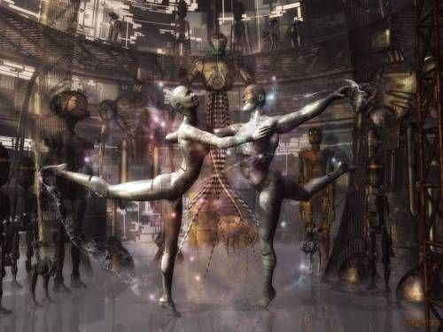 Dance by A. Langnickel - desktop wallpaper 1024 x 768 pixels