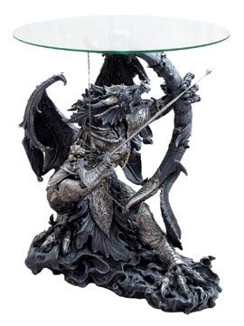 Gothic Dragon Furniture Archer Dragon With Bow Arrow Statue