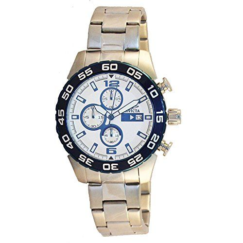 Men's Wrist Watches - Invicta Mens 13675 Specialty Chronograph Silver Dial Stainless Steel Watch >>> See this great product.