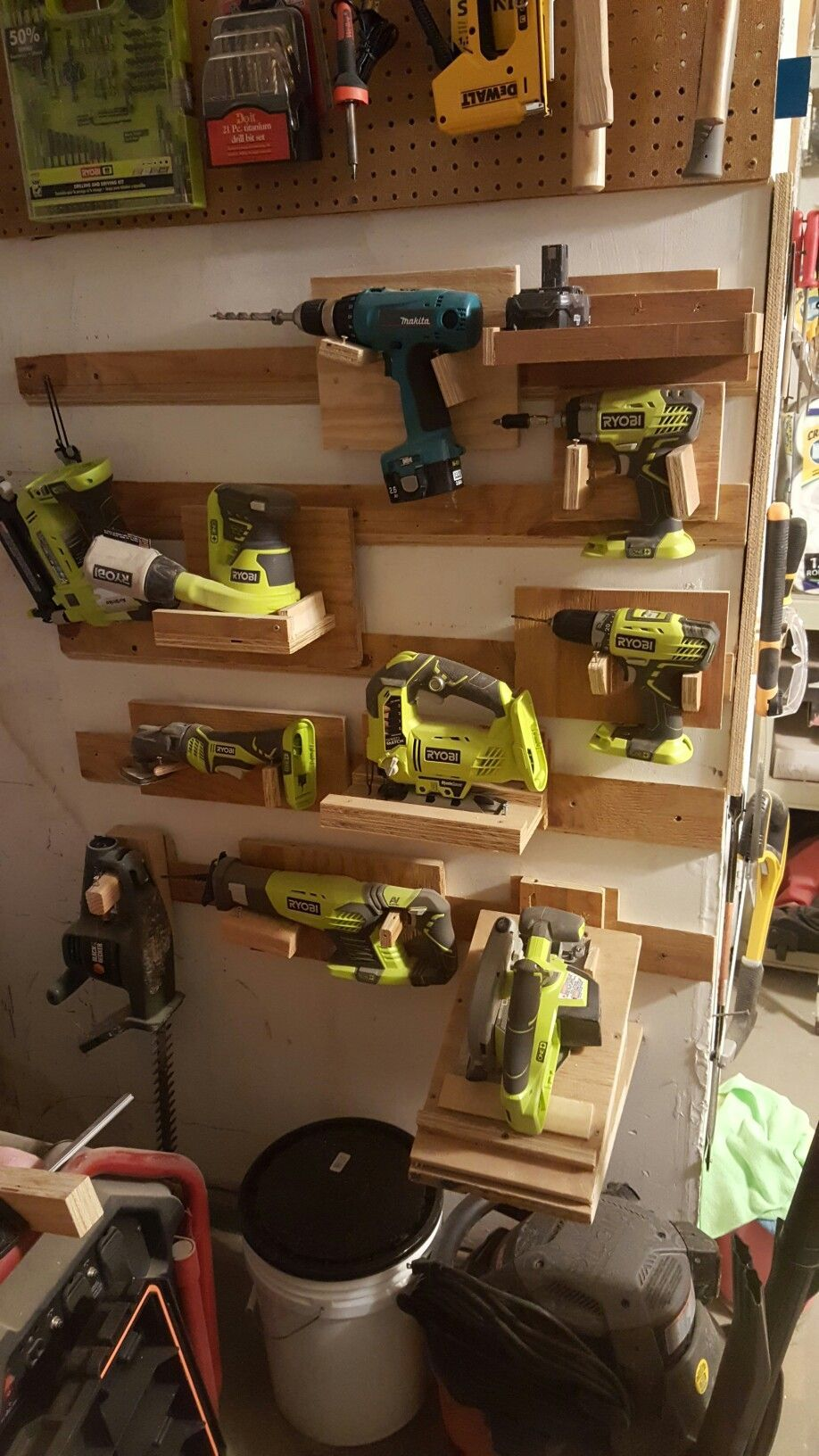 FrenchCleats powertoolstorage. takes up too much space