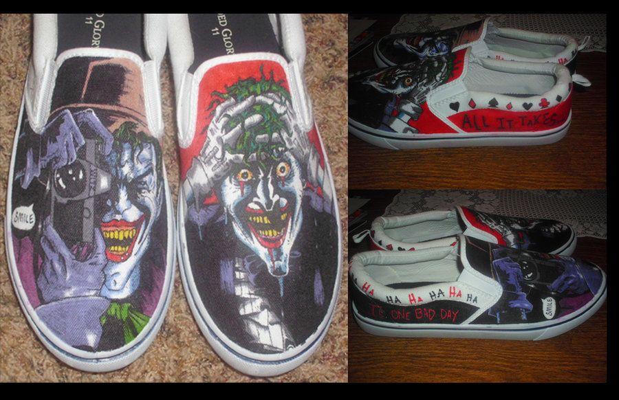 8ff2d2caefc3 The Killing Joke Joker Shoes by ~JackSkelling10 on deviantART ...