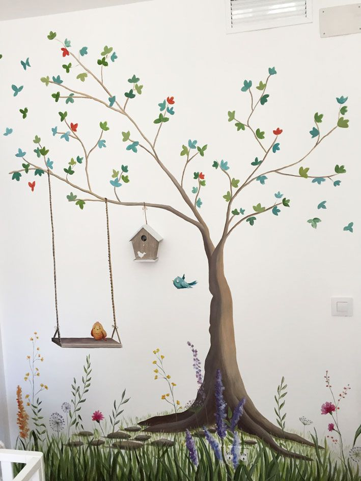 Habitacion infantil arbol garabato mural habitaciones infantiles habitaciones infantiles Dibujos para paredes