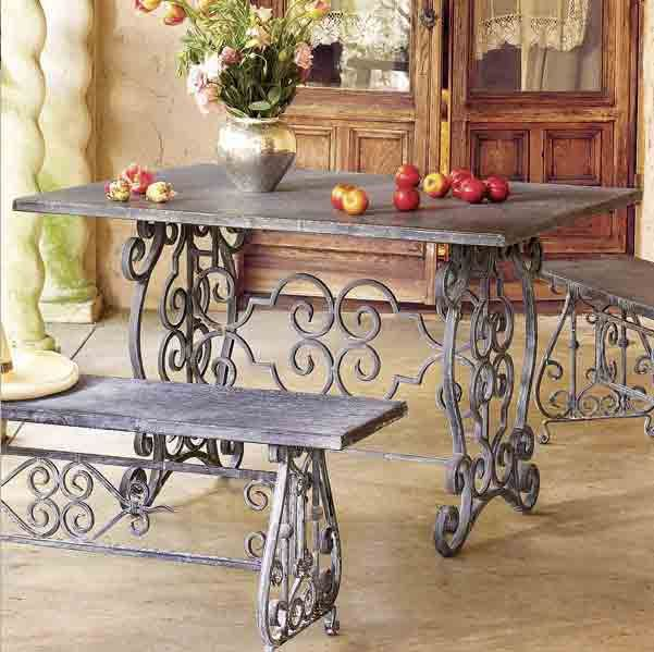 Mesa y bancas de hierro para exterior proyectos que for Camastros para jardin