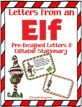 Elf On My Classroom Shelf  Design Letters Elves And Kindergarten