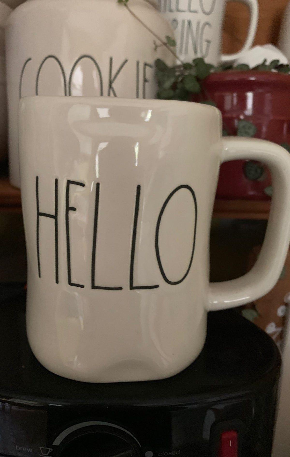 Rae Dunn Hello Mug Tea Accessories Mugs Dunn