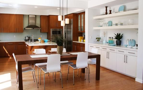 Spacious Kitchen And Dining Room Photo