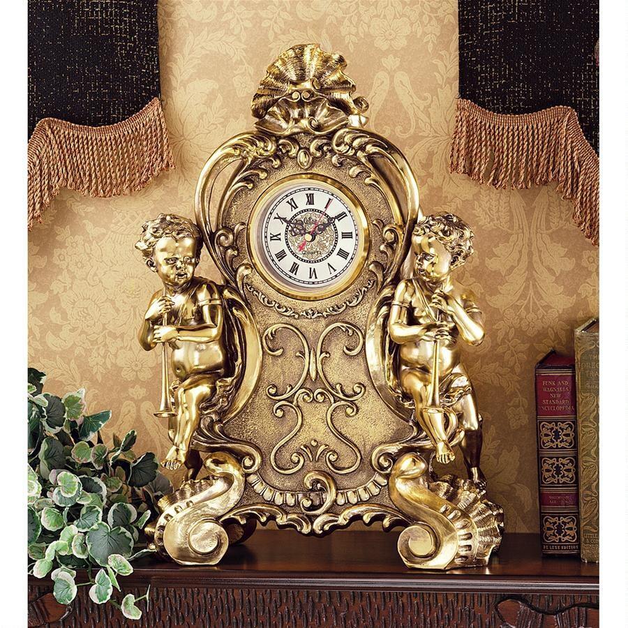 Design Toscano Amboise Twin Cherubs Mantle Clock