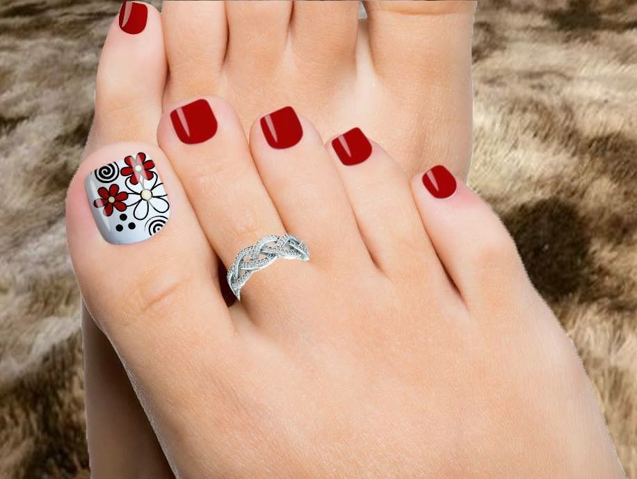 Cute Toenails Nails Uñas Pies Decoracion Uñas De Pies