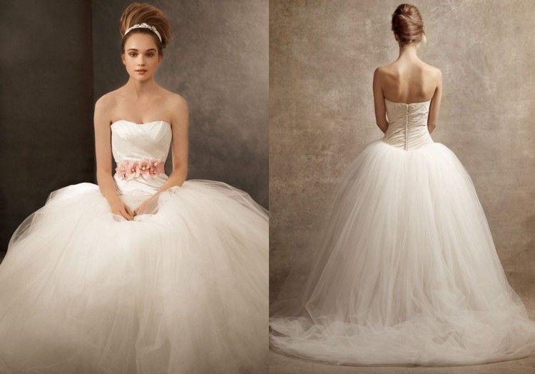 Shruthi In A Dreamy One Shoulder Pronovias Dress: Vera Wang Vw351007 Wedding Dress