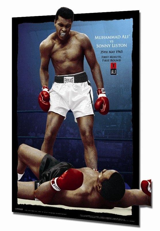 3D Muhammad Ali Versus Sonny Liston Framed Memorabilia   Signature ...