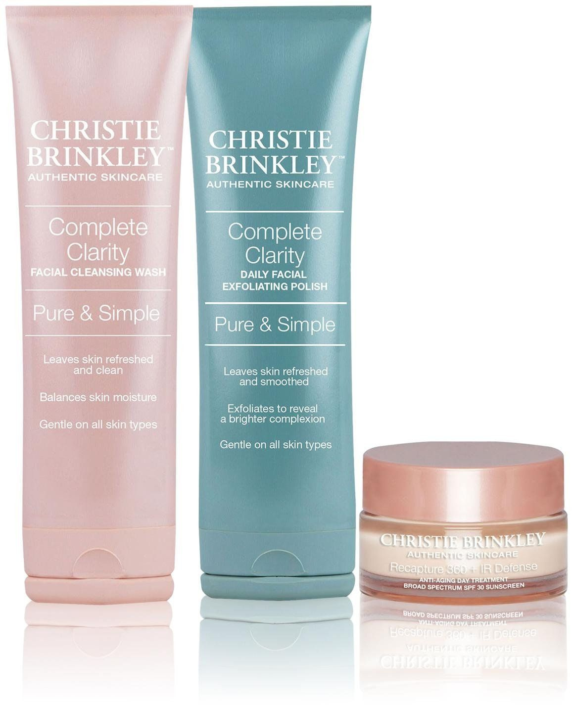 Christie Brinkley Authentic Skin Care 3piece Kit 12 67 Ounce Click Image To Review More D Christie Brinkley Skin Care Best Foundation Makeup Facial Cleansing