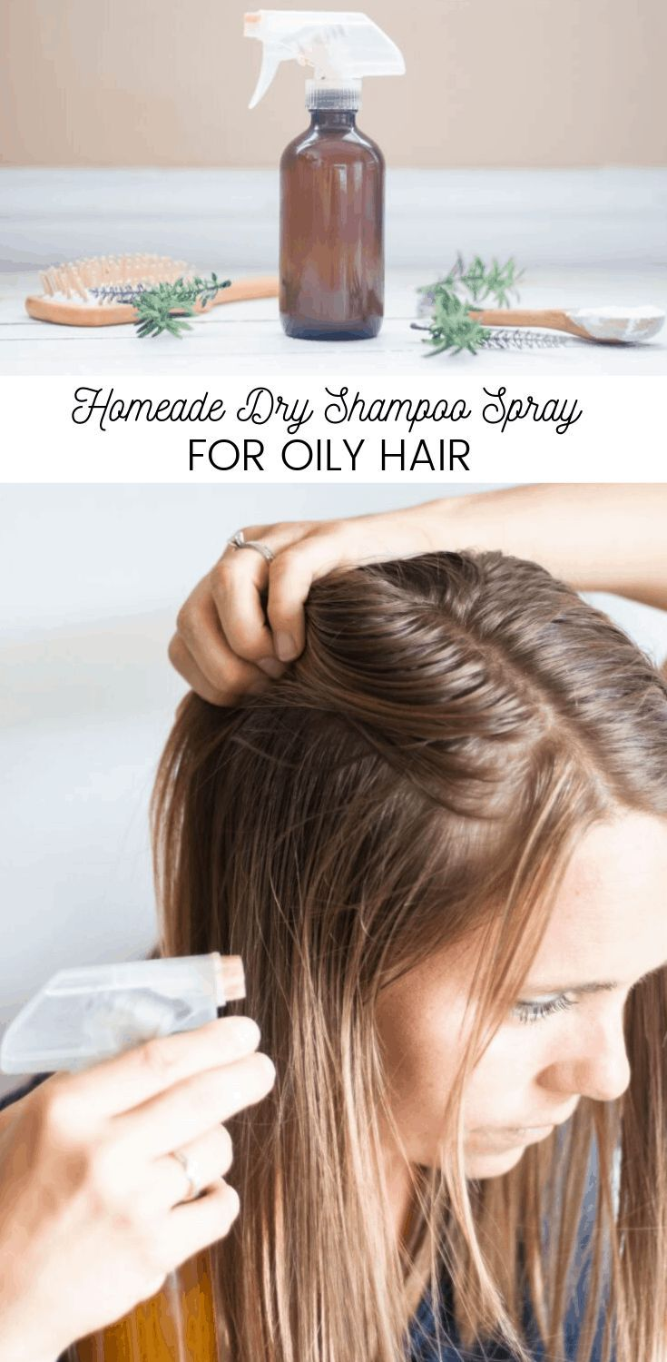 Easy natural DIY dry shampoo spray for oily hair Made with nourishing ingredients and the best essential oils for hair growth and shine