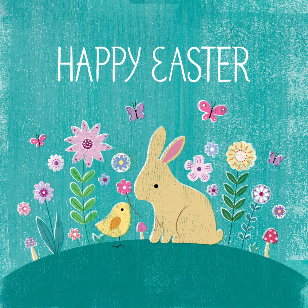 Bunny Hill Easter Card Free Greetings Island Free Easter Cards Cards Easter Cards