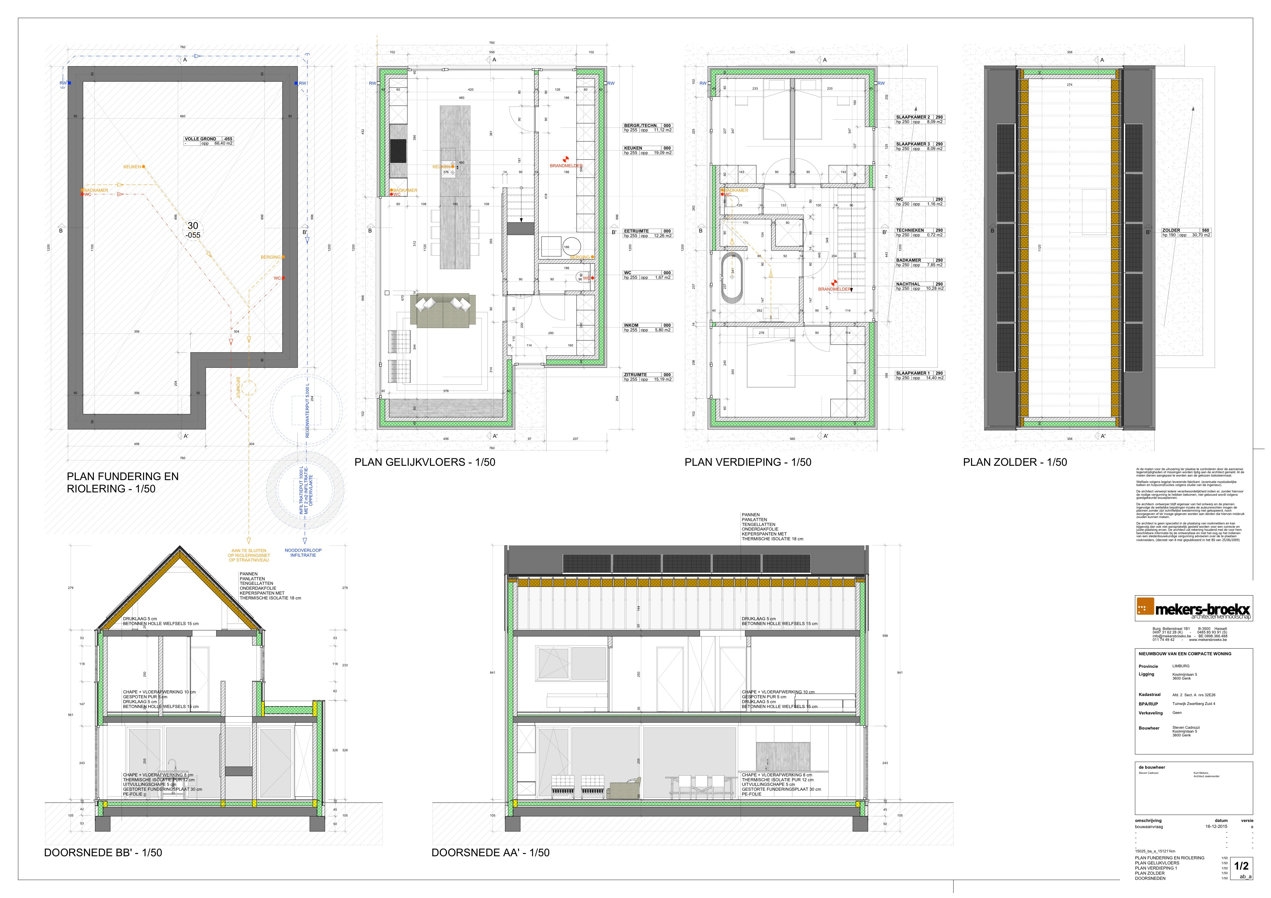 Plans And Sections Created With Skalp For Sketchup Project By Mekers Broeckx Architectenvennootschap Architectural Section How To Plan Projects