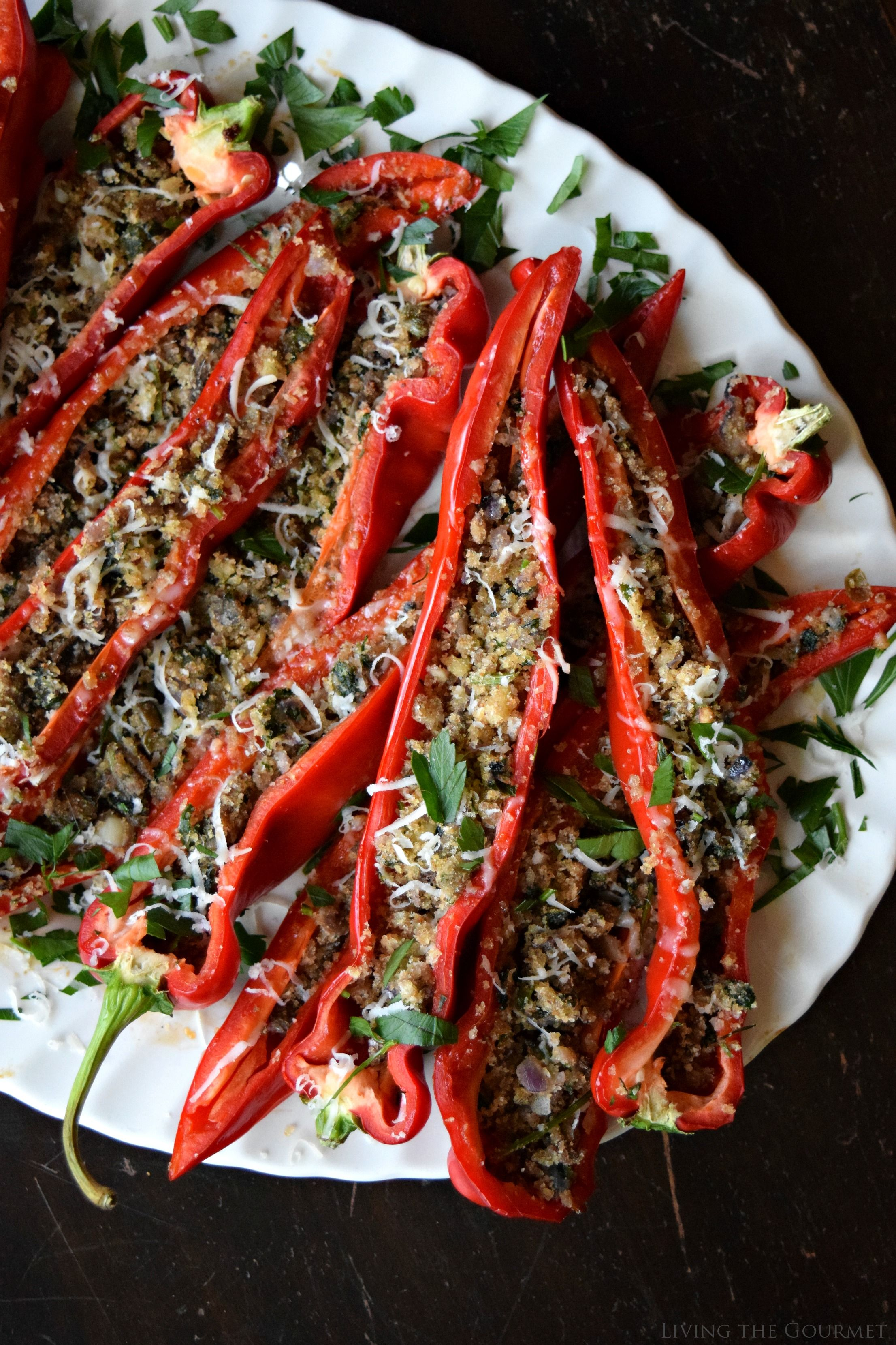 Italian Style Stuffed Peppers Living The Gourmet Recipe Stuffed Peppers Hot Pepper Recipes Stuffed Long Hots Recipe