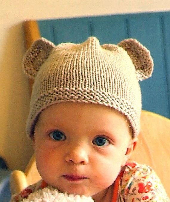 Easy Baby Knitting Pattern Download Pdf Teddy Bear Hat Baby Hat