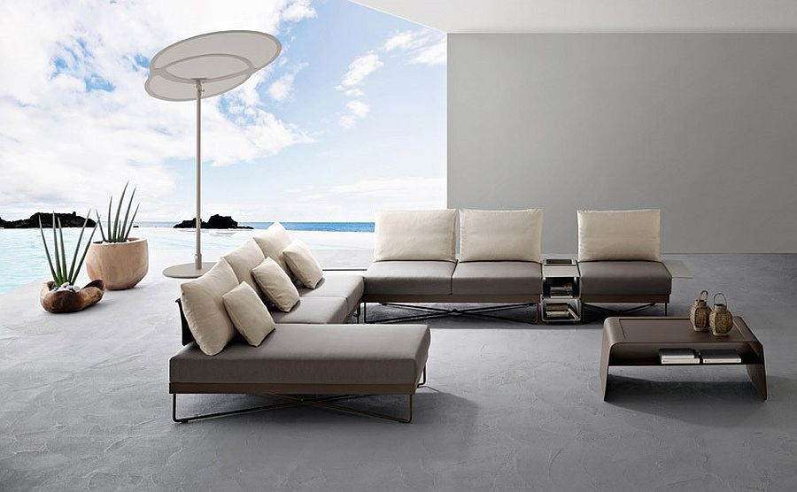 Polished Outdoor Furniture With Clean And Refined Modern Design Decoist In 2020 Contemporary Outdoor Sofas Outdoor Sofa Modern Outdoor Furniture