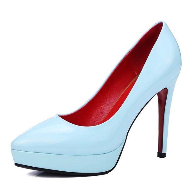 Pump - Blue Elegant Stiletto High Heels Platform Pumps @shoesofexception #platform #stiletto #pumps