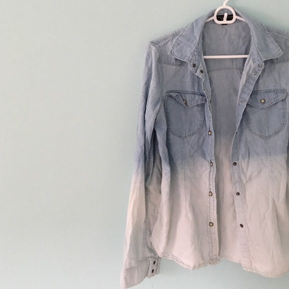 | new | • Ombré Chambray Shirt • Description coming soon! ✨ Sanctuary Tops Button Down Shirts