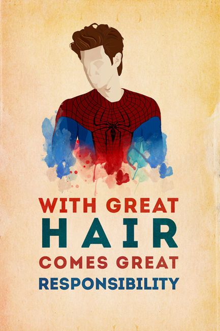 Love it xD With great hair comes great responsibility.