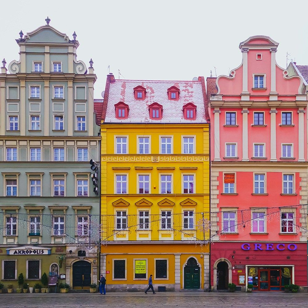 Colorful Buildings: Why You Should Visit Wroclaw, Colourful