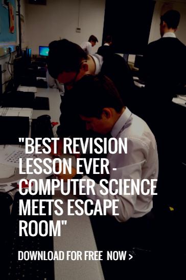 """""""BEST REVISION LESSON EVER Computer Science meets Escape"""