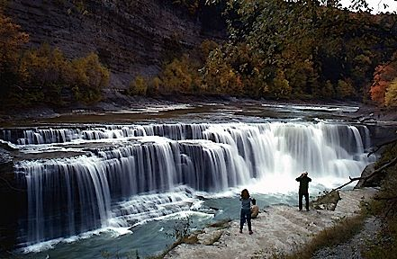 New York Waterfalls You Can Visit -- Letchworth State Park -- gonna hit this baby up in a few weeks! #letchworthstatepark