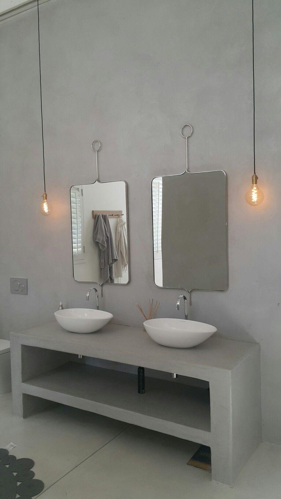 Beautiful Bathroom Cement Floors Walls Vanity Www Cherubinos Co Za Wall Vanity Beautiful Bathrooms Cement Furniture